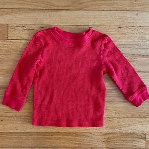 Long sleeve red thermal T-shirt 12M
